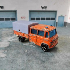 Download free 3D printer model majorette bachelors mercedes N°233 public works 1/78 1/64, wericless