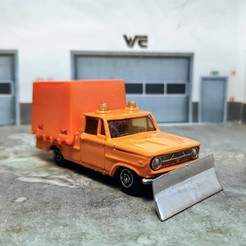 lame chasse neige majorette 5.jpg Download STL file Dodge Unimog Snowplow Blade • 3D printing design, wericless