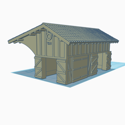 Halle marchandise 2.png Download STL file Goods hall N scale 1/160 • 3D printable object, wericless