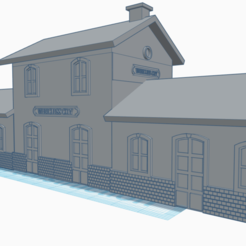 gare.png Download STL file station - N scale • Design to 3D print, wericless