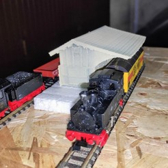 Download 3D printing models Goods hall N scale 1/160, wericless