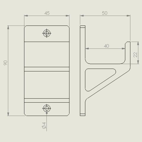 schraubzwinge_mittel.PNG Descargar archivo STL gratis Schraubzwingenhalter / Soporte de abrazadera de tornillo • Diseño para imprimir en 3D, Chileo