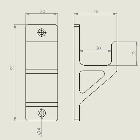 schraubzwinge_klein.PNG Descargar archivo STL gratis Schraubzwingenhalter / Soporte de abrazadera de tornillo • Diseño para imprimir en 3D, Chileo