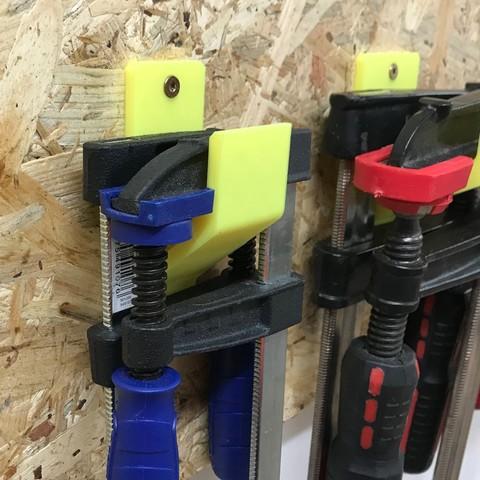Download free STL file Schraubzwingenhalter / Screw clamp holder • 3D printer object, Chileo