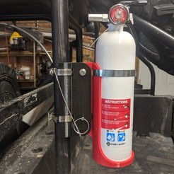 Download STL files UTV Fire Extinguisher Mount, Bunedoggle