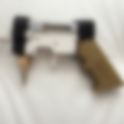 AIRGUN_BOLT_AND_STOCK.stl Download free STL file Air Gun Mussy Design • 3D print design, MuSSy