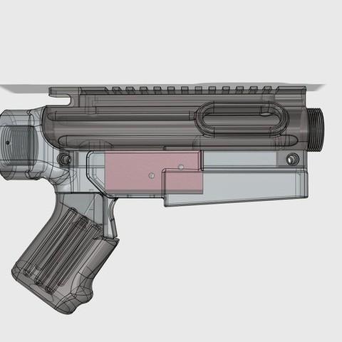 Télécharger fichier impression 3D gratuit Groupe de déclenchement minimaliste AR 15 (PROP / REPLICA) (PARTIE 2), MuSSy