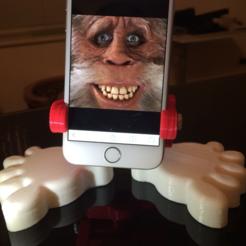 Free 3D printer designs Big Foot (Phone Stand), MuSSy