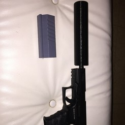 Download free 3D printing templates AIRSOFT SUPPRESSOR Loads of versions (Improved version of my previous design), MuSSy