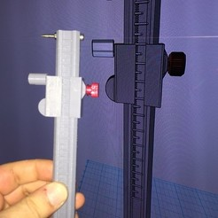 Download free 3D printing files Scribe & Caliper in one tool (METRIC), MuSSy