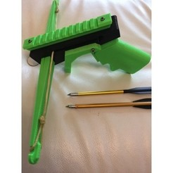 Download free 3D printing designs Pistol Crossbow (With Optional Slide Stock), MuSSy