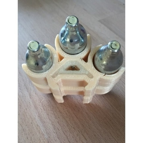 modelo stl gratis Titular de P-Rail de cápsula de CO2 de 12 gramos, MuSSy