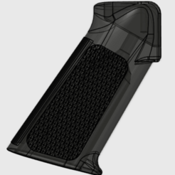 textured_AR_15_grip.png Download free STL file Textured AR-15 Grips 3mm & 5mm hole options • 3D print template, MuSSy
