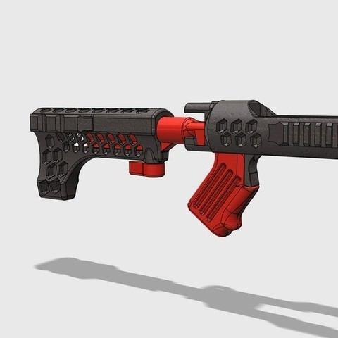 Free STL files REPTILIAN (Ruger 10/22 Folding Stock) ・ Cults
