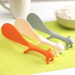 Modelos 3D para imprimir gratis (EDAD DE HIELO) Cuchara de servir de ardilla, MuSSy