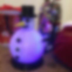 snowman_black_bits_final.stl Download free STL file Glow In The Dark Snowman • Template to 3D print, MuSSy