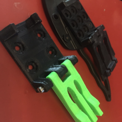 Free 3D printer files Kydex belt clip, MuSSy