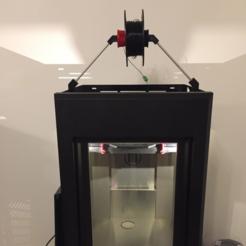 Modelos 3D para imprimir gratis Makerbot Z18 Soporte de carrete superior montado, MuSSy