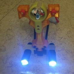 Télécharger plan imprimante 3D gatuit Support LED CREE Q5 P-Rail, MuSSy