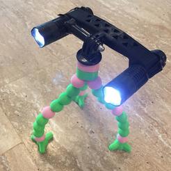 Free 3D model Gopro Mount LED Work Light (CREE Q5), MuSSy