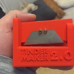 Free 3D printer files Tinder Maker Version 2.0, MuSSy