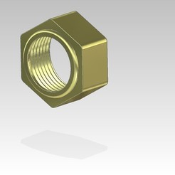 Download free 3D printer designs nut union 20-27 gas for fitting PER diameter 20, cultsjomo