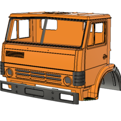 Download 3D printer designs KAMAZ short cabin, semeivan