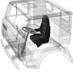 Download STL file Kamaz car seat , semeivan