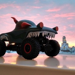 Free 3D print files haunted house monster truck, semeivan