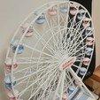 Download free 3D printer designs Giant wheel / ferris wheel / grande roue / 1 meter, lulu3Dbuilder