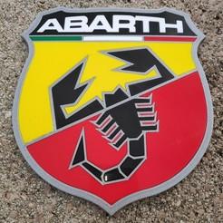 Descargar archivo 3D gratis Insignia con el logotipo de ABARTH, lulu3Dbuilder