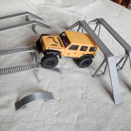 IMG_20200221_122636.jpg Download STL file AXIAL SCX24 mini or micro crawler Bridge 100 mm • Object to 3D print, lulu3Dbuilder