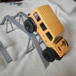 Download 3D printer designs AXIAL SCX24 mini or micro crawler Bridge 100 mm, lulu3Dbuilder