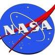 Impresiones 3D gratis INSIGNIA DE LA NASA LOGO 3D, lulu3Dbuilder