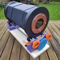 Descargar archivos 3D gratis Desbarbadora de cajas rotativas de ciclones de tambor, lulu3Dbuilder