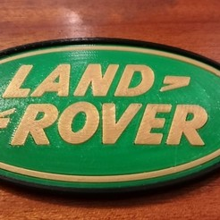 Free STL files Land Rover Logo Dome, lulu3Dbuilder