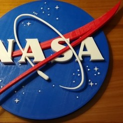 Free 3D print files NASA LOGO BADGE 3D, lulu3Dbuilder