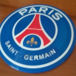 Free STL PSG Logo Badge Dome Version, lulu3Dbuilder