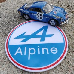 Free 3D printer model ALPINE RENAULT LOGO big size, lulu3Dbuilder