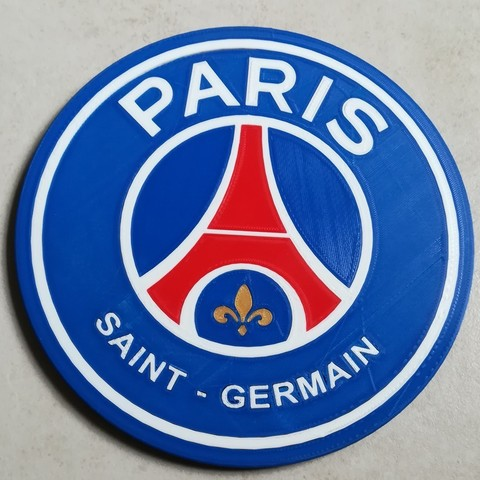 Download free 3D printer files PSG Logo Badge, lulu3Dbuilder