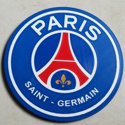 Free 3D print files PSG Logo Badge, lulu3Dbuilder