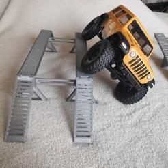 Download 3D printer templates AXIAL SCX24 mini or micro crawler Bridge 50 mm , lulu3Dbuilder