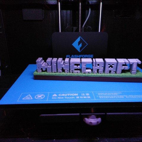 Download free 3D printer templates Minecraft 3D logo, ChristopheJolly