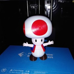 STL gratuit Toad from Mario games - Multi-color, ChristopheJolly