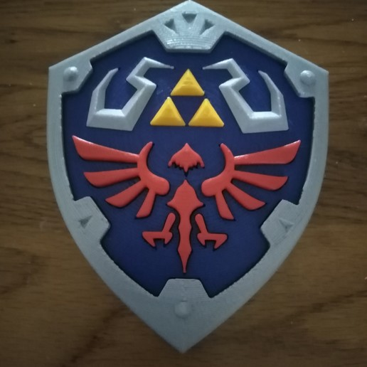 Télécharger fichier 3D gratuit The Legend of Zelda - Hylian Shield multi-parts, ChristopheJolly