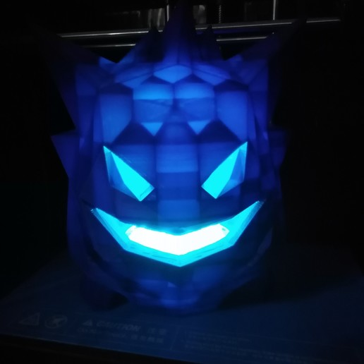 Download 3D printer model Gengar spooky low poly pokemon decoration, ChristopheJolly