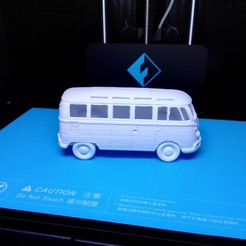 Free 3D file Volkswagen Bus 1970s, ChristopheJolly