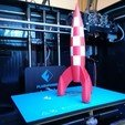 Free 3d print files Tintin Rocket, ChristopheJolly