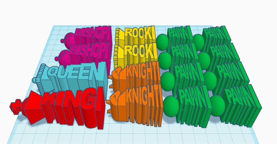 Screen Shot 2017-12-29 at 5.27.46 pm.png Download STL file Unique Chess Set • 3D printing object, isabellagrant001