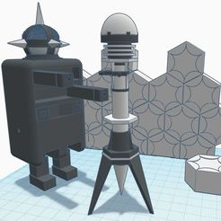"""quark square.JPG Download free STL file Doctor Who - 5.5"""" scale Quark action figure • 3D printing template, TroyWood"""